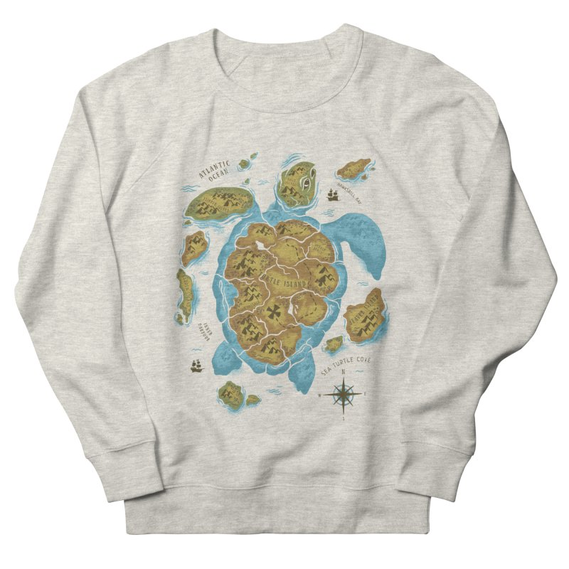 Sea Turtle Island Women's Sweatshirt by CPdesign's Artist Shop