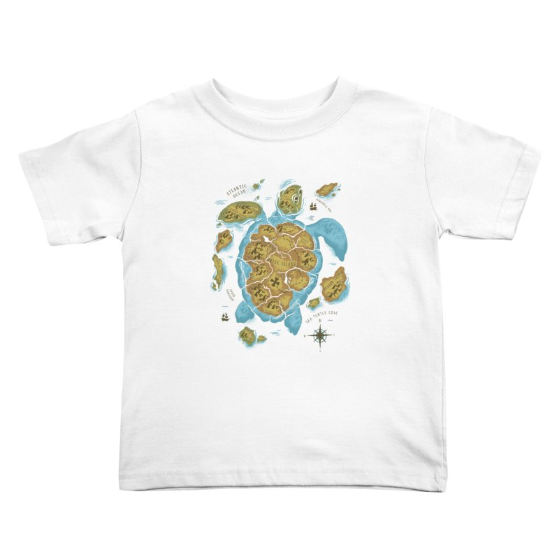 Sea Turtle Island Kids Toddler T-Shirt by CPdesign's Artist Shop