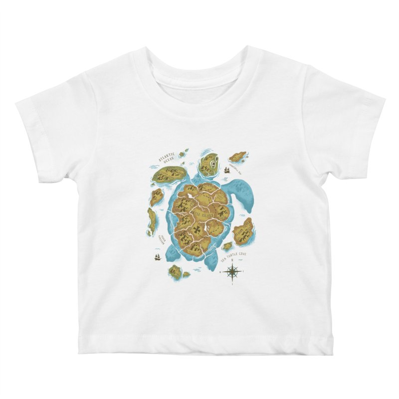 Sea Turtle Island Kids Baby T-Shirt by CPdesign's Artist Shop