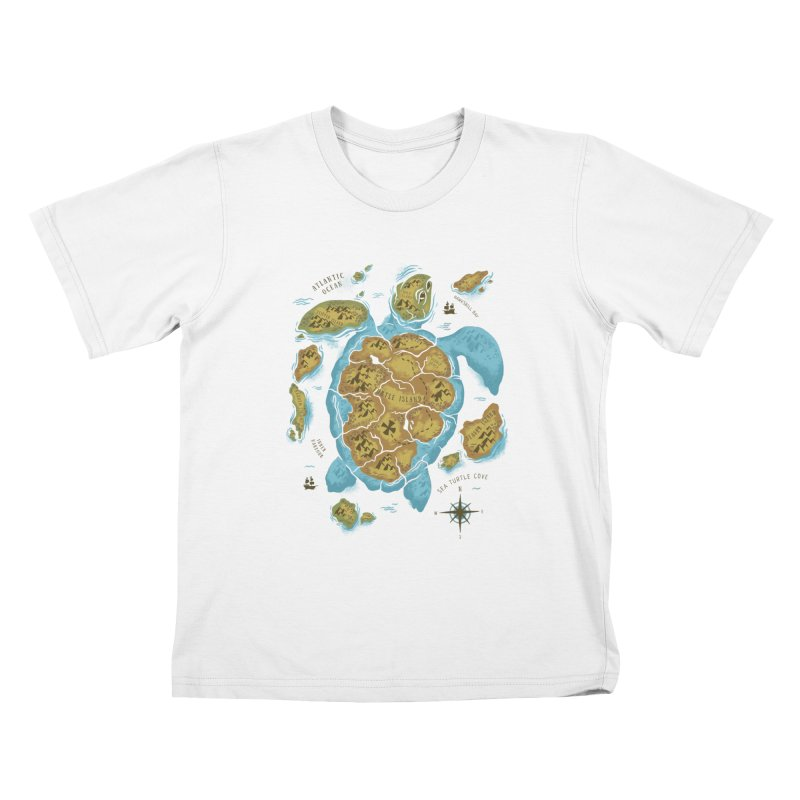 Sea Turtle Island Kids T-shirt by CPdesign's Artist Shop