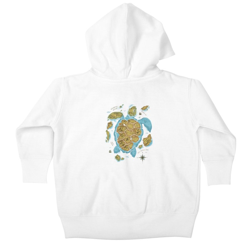 Sea Turtle Island Kids Baby Zip-Up Hoody by CPdesign's Artist Shop