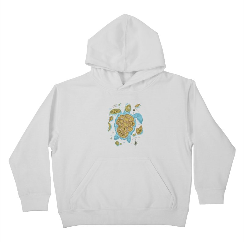 Sea Turtle Island Kids Pullover Hoody by CPdesign's Artist Shop