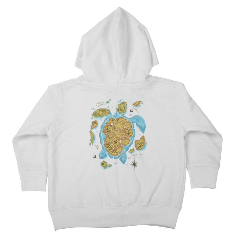 Sea Turtle Island Kids Toddler Zip-Up Hoody by CPdesign's Artist Shop