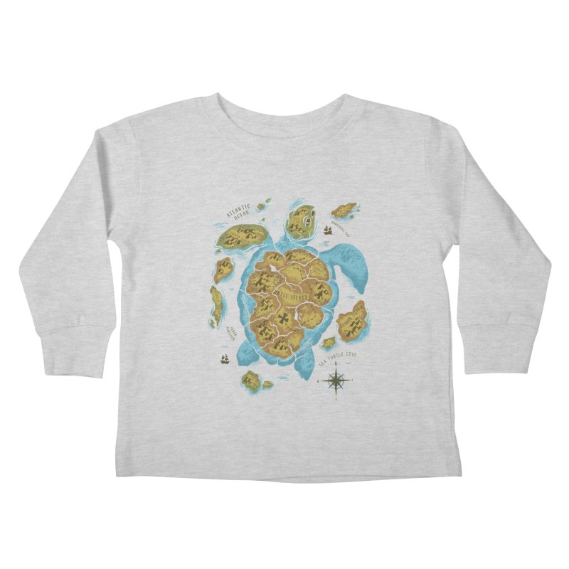 Sea Turtle Island Kids Toddler Longsleeve T-Shirt by CPdesign's Artist Shop
