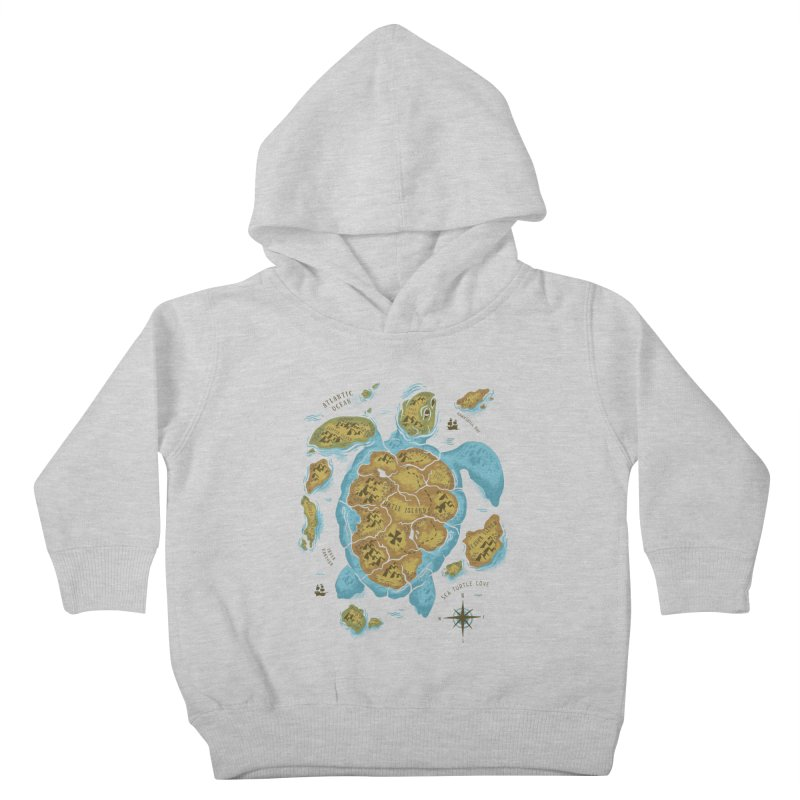 Sea Turtle Island Kids Toddler Pullover Hoody by CPdesign's Artist Shop