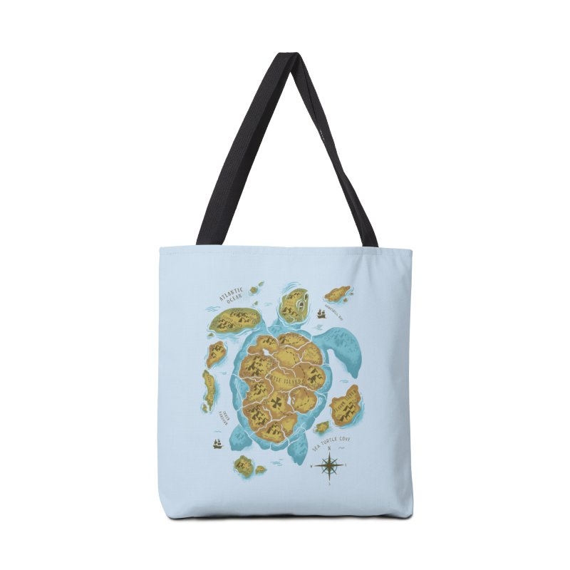 Sea Turtle Island Accessories Bag by CPdesign's Artist Shop
