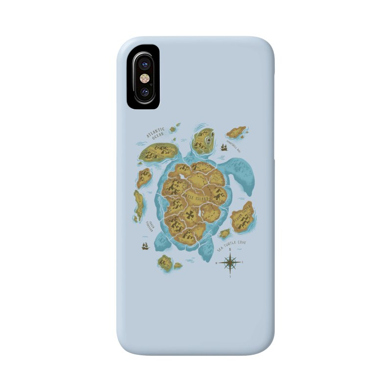 Sea Turtle Island Accessories Phone Case by CPdesign's Artist Shop