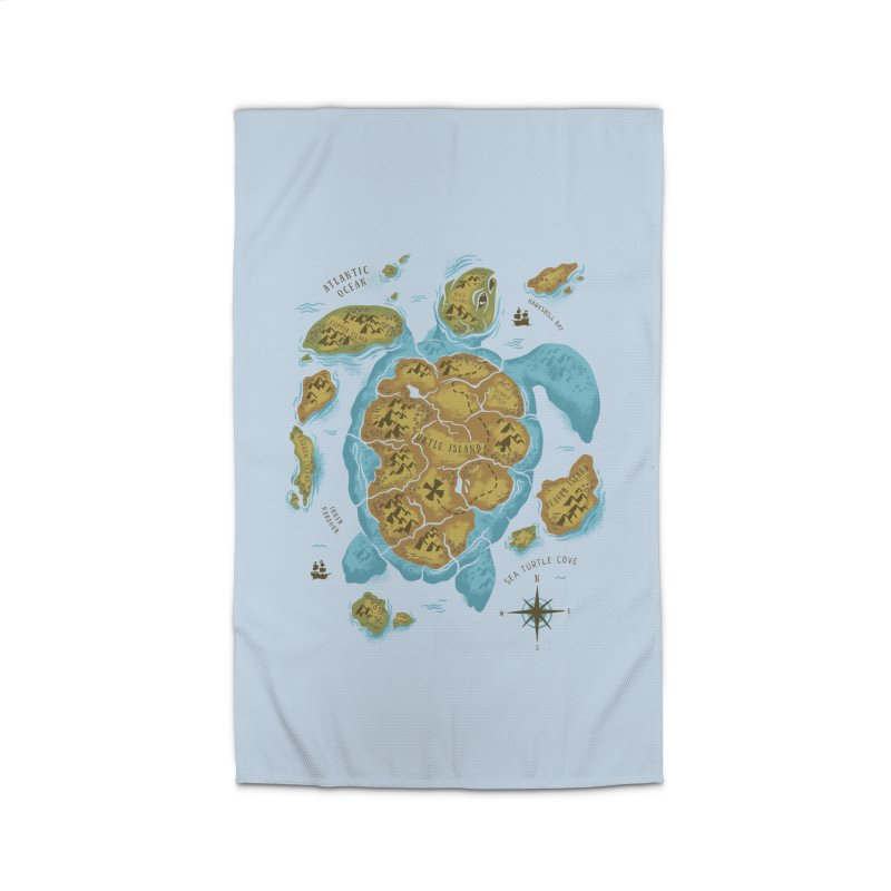 Sea Turtle Island Home Rug by CPdesign's Artist Shop