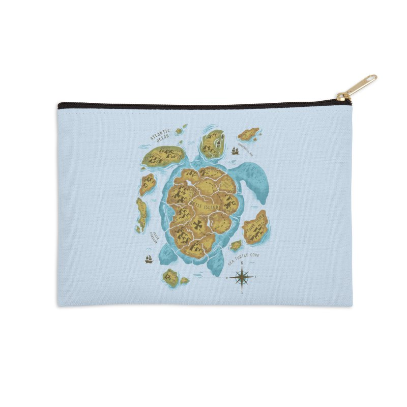 Sea Turtle Island Accessories Zip Pouch by CPdesign's Artist Shop