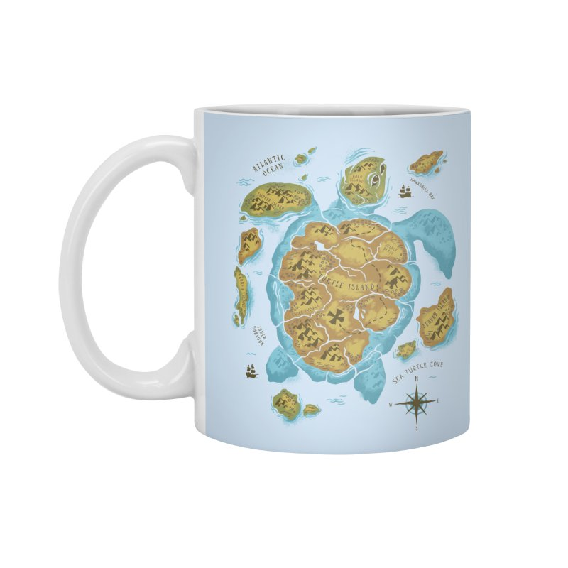 Sea Turtle Island Accessories Mug by CPdesign's Artist Shop