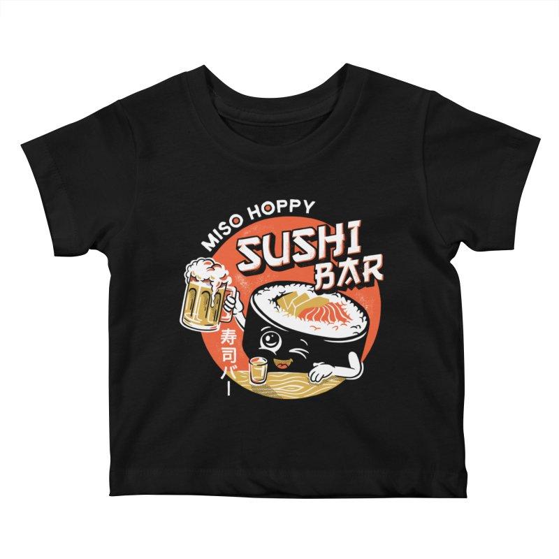Sushi Bar - black variant Kids Baby T-Shirt by CPdesign's Artist Shop