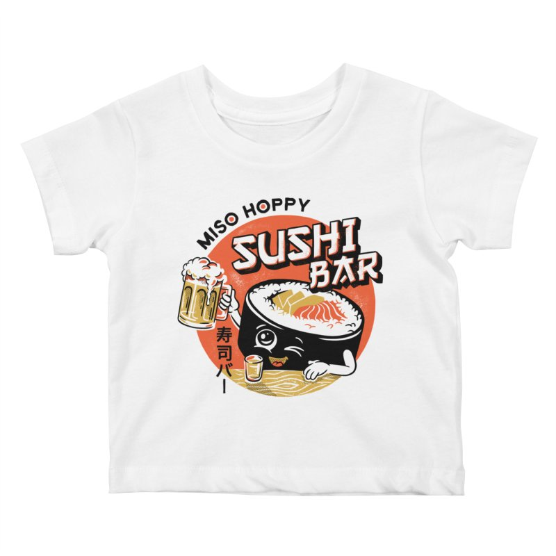 Sushi Bar - white variant Kids Baby T-Shirt by CPdesign's Artist Shop