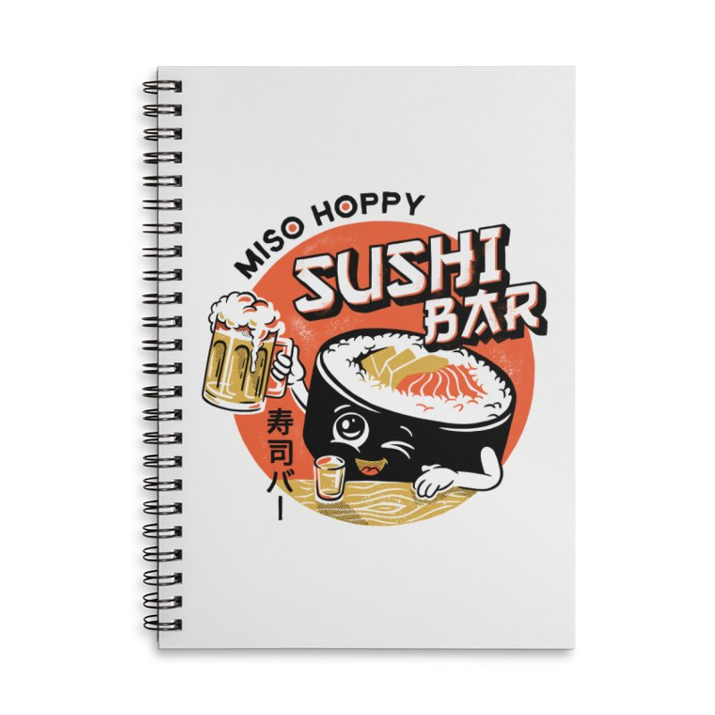 Sushi Bar - white variant Accessories Lined Spiral Notebook by CPdesign's Artist Shop