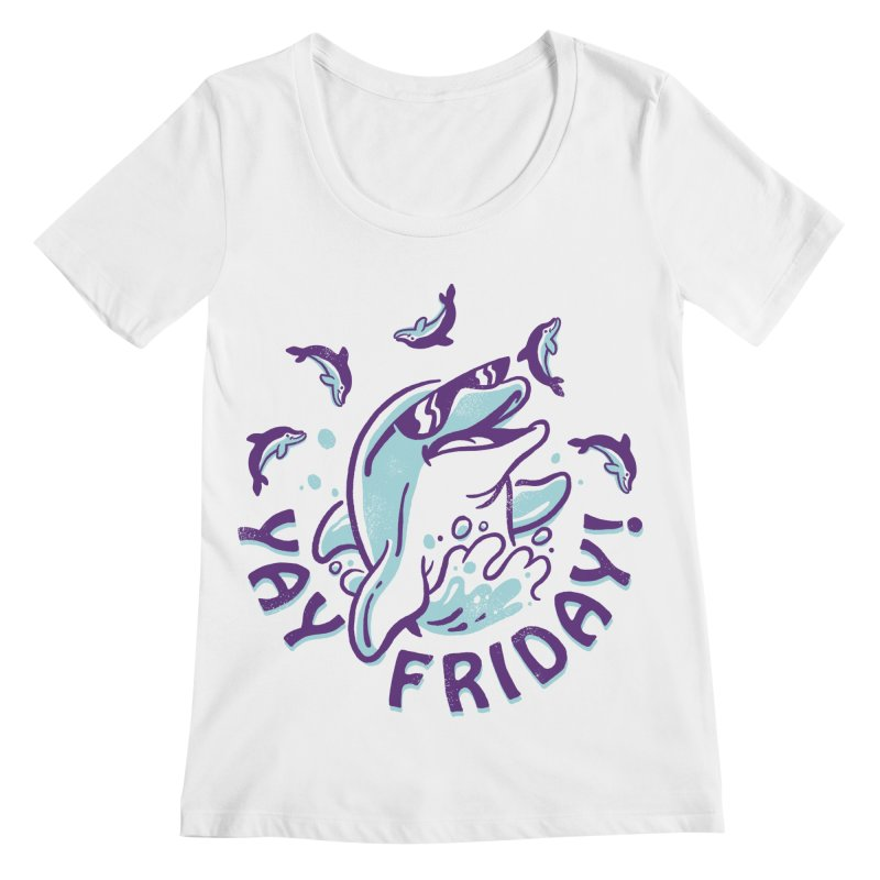 Yay Friday! Women's Regular Scoop Neck by CPdesign's Artist Shop