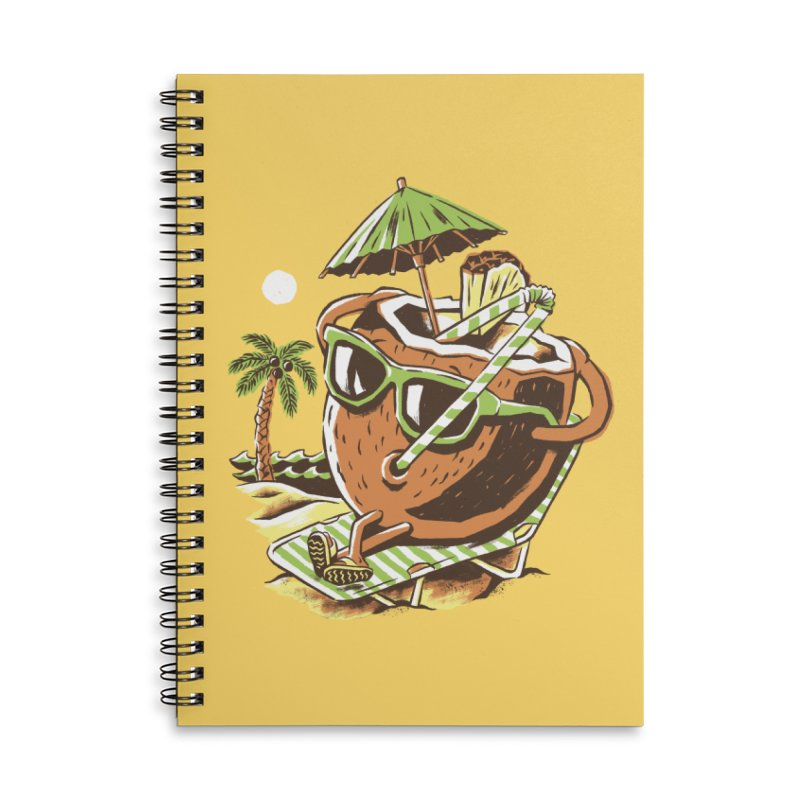 Livin the Dream Accessories Lined Spiral Notebook by CPdesign's Artist Shop