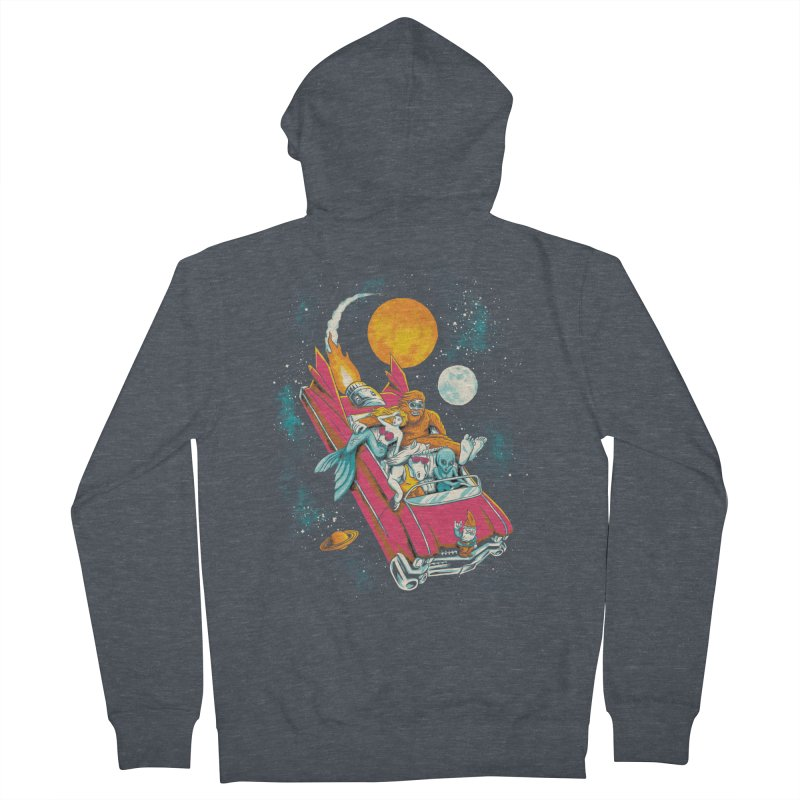 Fantasy Voyage Men's French Terry Zip-Up Hoody by CPdesign's Artist Shop