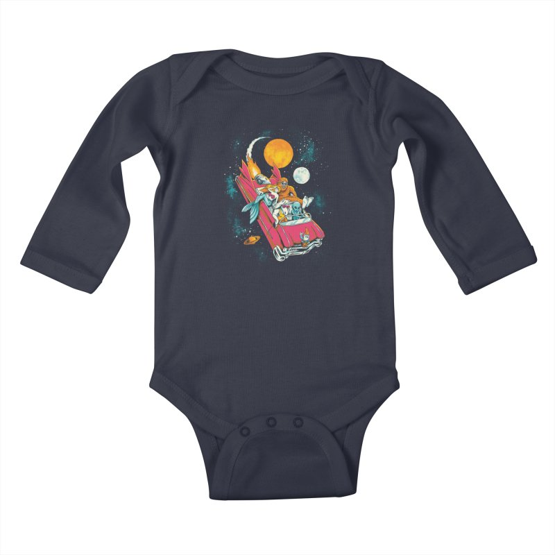 Fantasy Voyage Kids Baby Longsleeve Bodysuit by CPdesign's Artist Shop