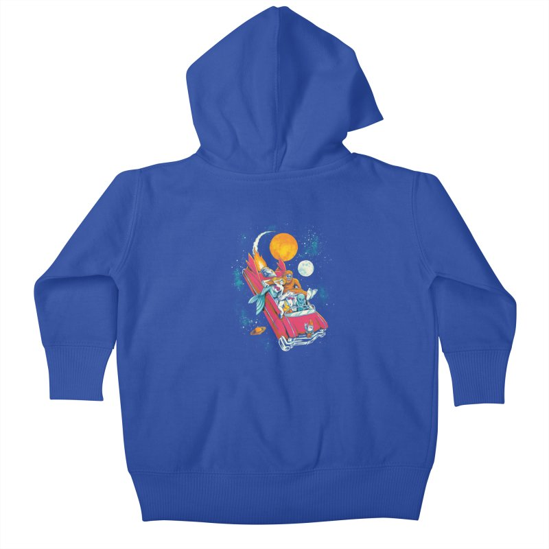 Fantasy Voyage Kids Baby Zip-Up Hoody by CPdesign's Artist Shop