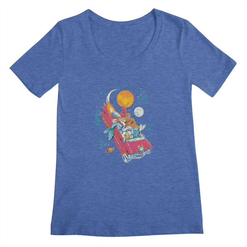 Fantasy Voyage Women's Scoopneck by CPdesign's Artist Shop