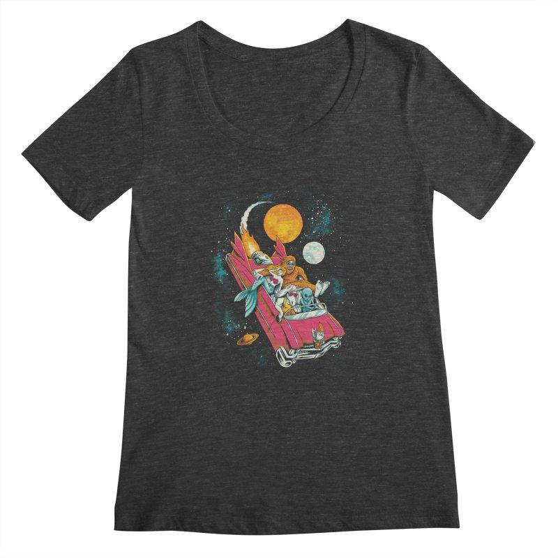 Fantasy Voyage Women's Scoopneck by CPdesign's Artist Shop