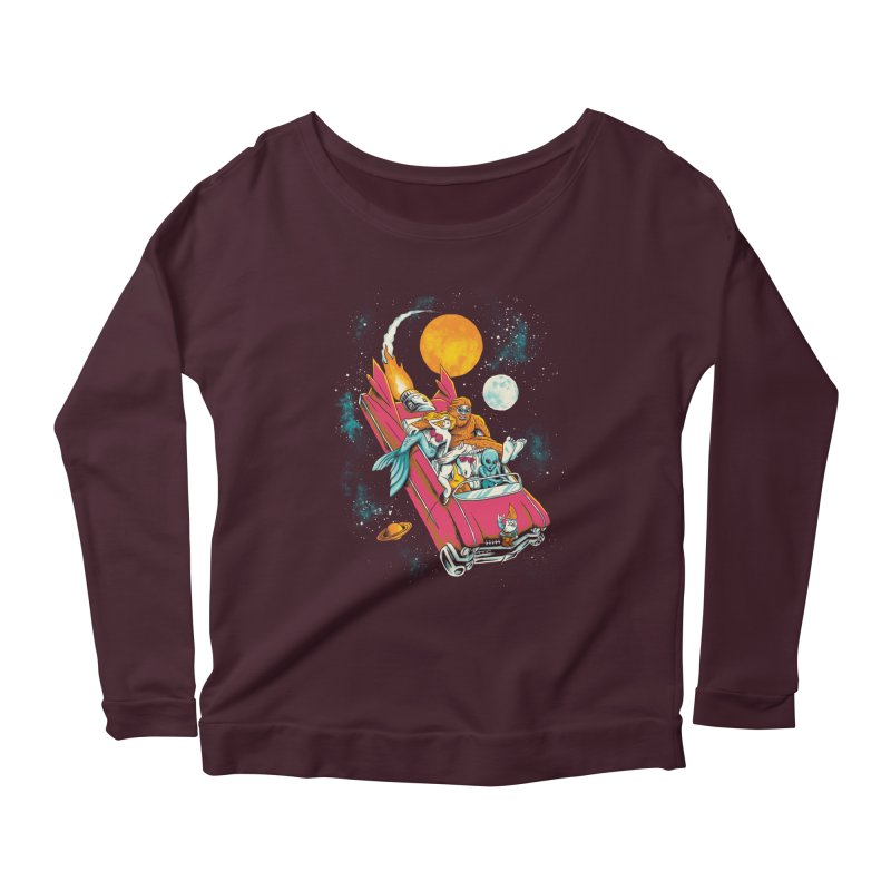 Fantasy Voyage Women's Longsleeve Scoopneck  by CPdesign's Artist Shop
