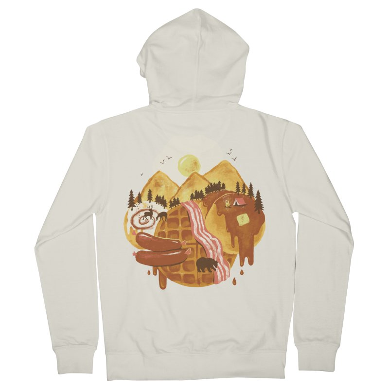 Breakfastscape Women's French Terry Zip-Up Hoody by CPdesign's Artist Shop