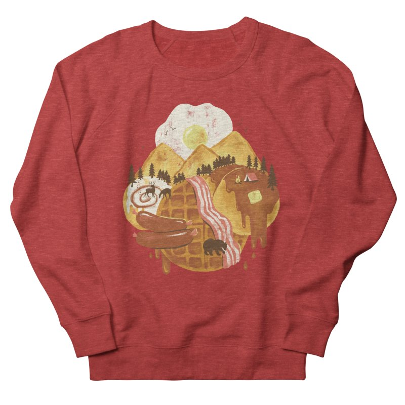 Breakfastscape Men's French Terry Sweatshirt by CPdesign's Artist Shop