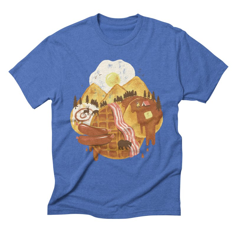Breakfastscape Men's Triblend T-Shirt by CPdesign's Artist Shop