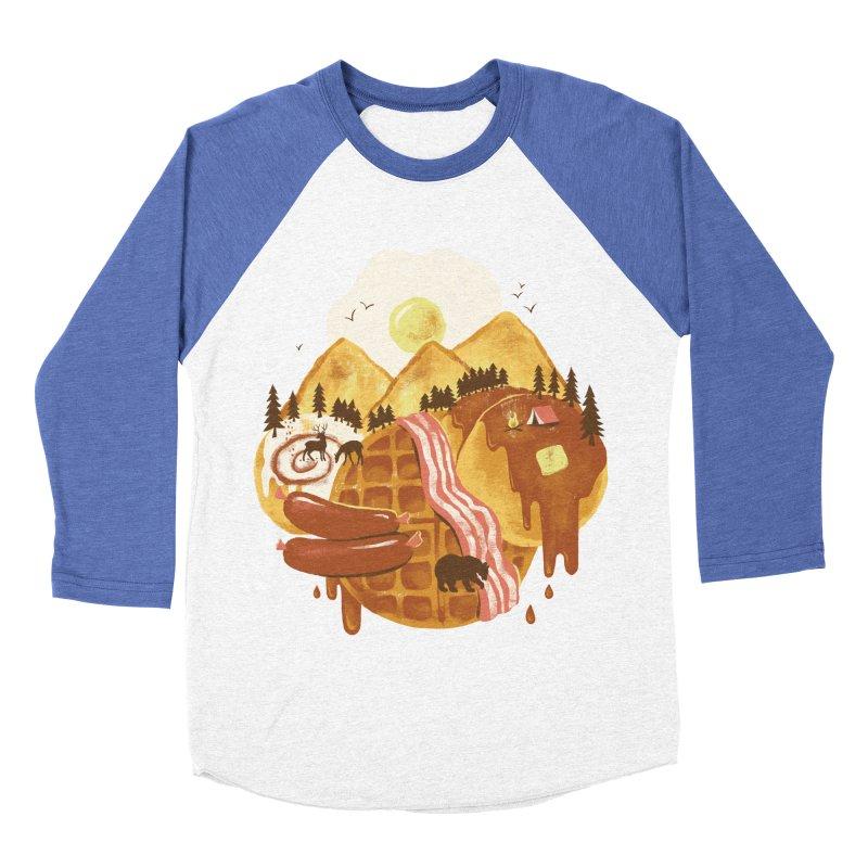 Breakfastscape Women's Baseball Triblend Longsleeve T-Shirt by CPdesign's Artist Shop