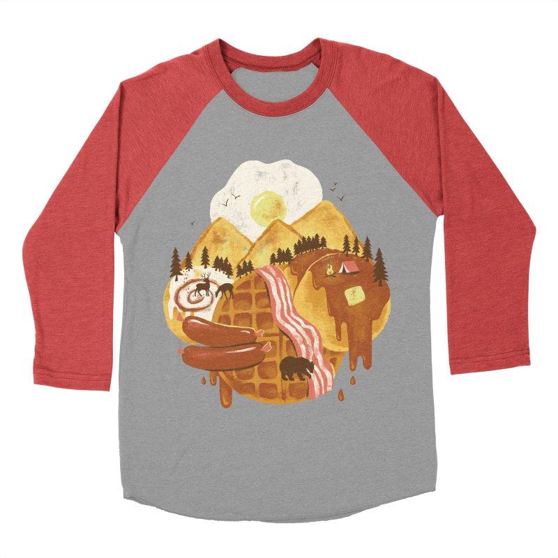 Breakfastscape Women's Baseball Triblend T-Shirt by CPdesign's Artist Shop