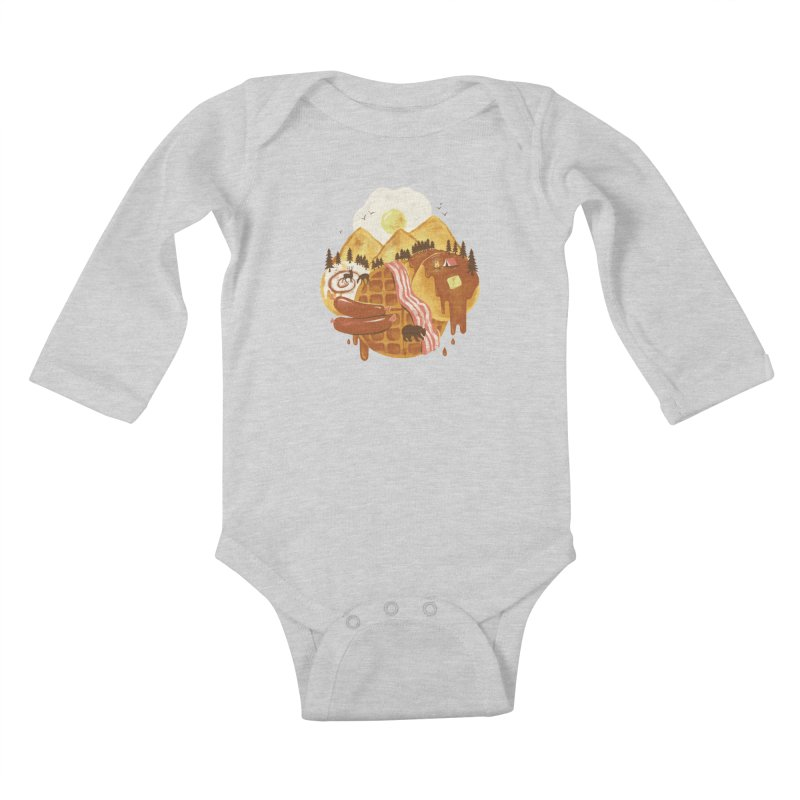 Breakfastscape Kids Baby Longsleeve Bodysuit by CPdesign's Artist Shop