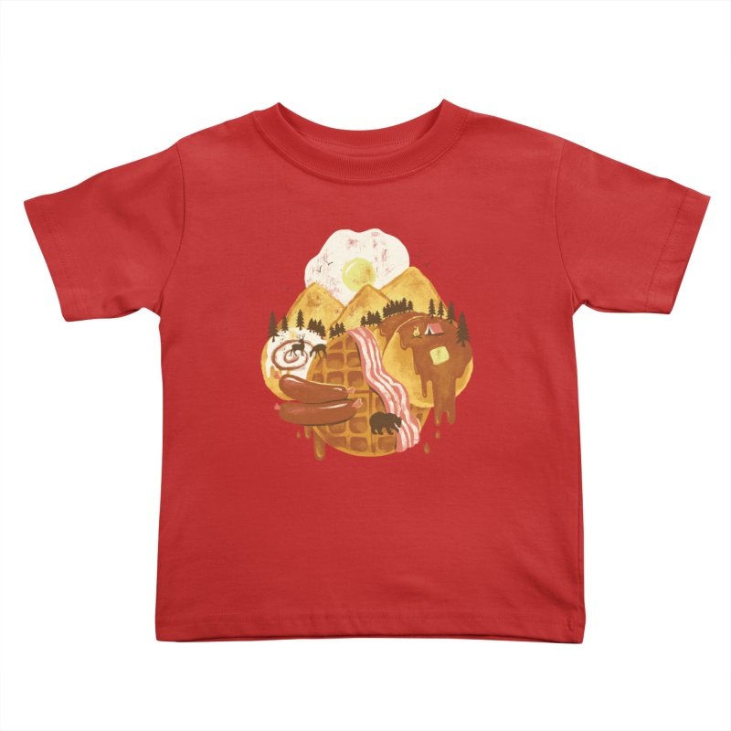 Breakfastscape Kids Toddler T-Shirt by CPdesign's Artist Shop