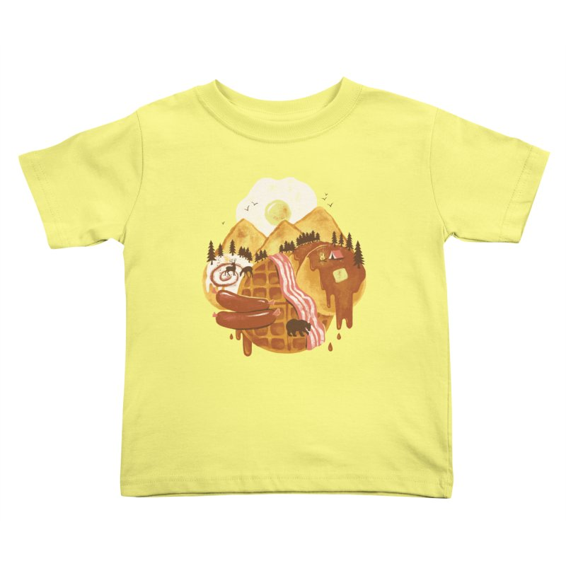 Breakfastscape Kids Toddler T-Shirt by CPdesign's Artist Shop