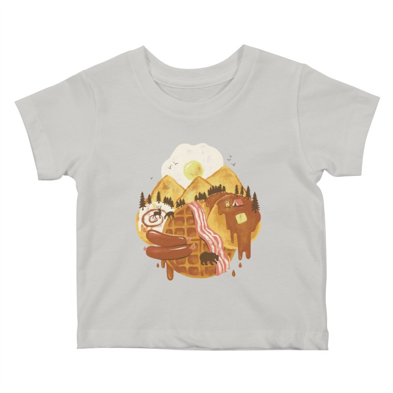 Breakfastscape Kids Baby T-Shirt by CPdesign's Artist Shop