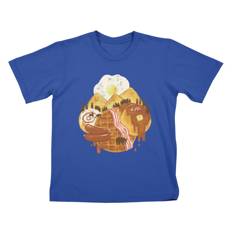 Breakfastscape Kids T-shirt by CPdesign's Artist Shop