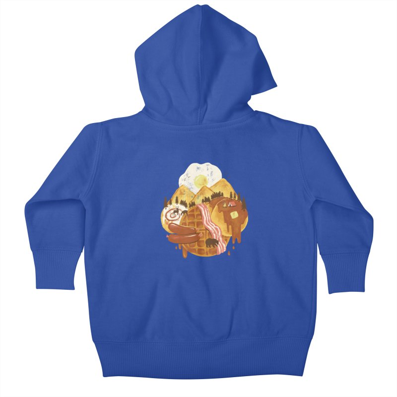 Breakfastscape Kids Baby Zip-Up Hoody by CPdesign's Artist Shop