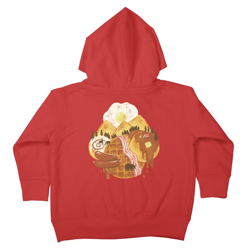 Breakfastscape Kids Toddler Zip-Up Hoody by CPdesign's Artist Shop