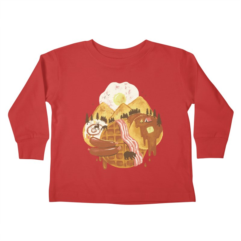 Breakfastscape Kids Toddler Longsleeve T-Shirt by CPdesign's Artist Shop