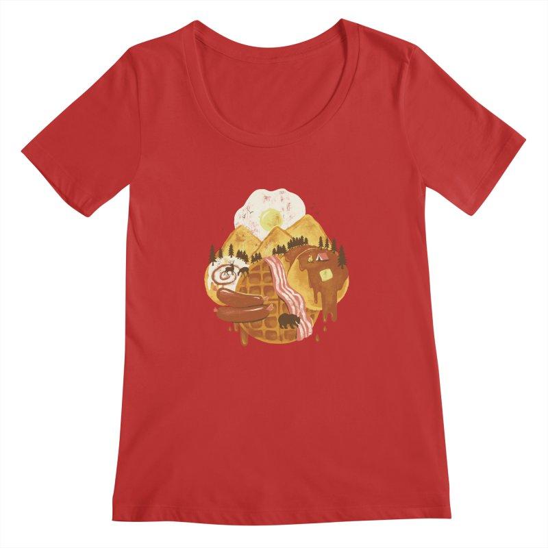 Breakfastscape Women's Scoopneck by CPdesign's Artist Shop