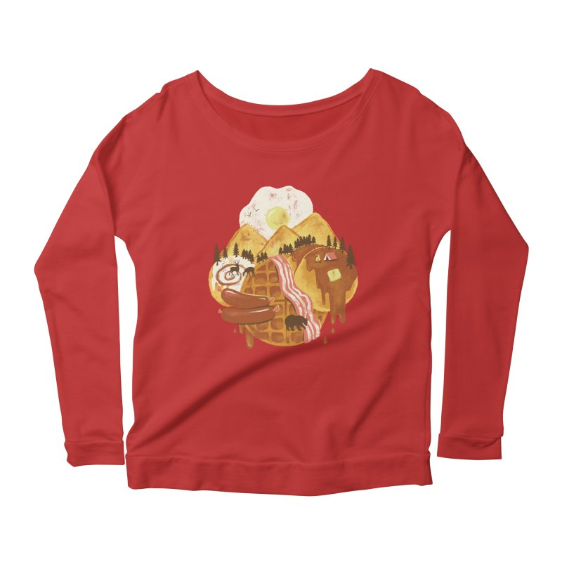 Breakfastscape Women's Scoop Neck Longsleeve T-Shirt by CPdesign's Artist Shop