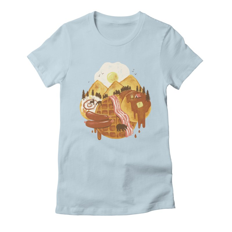 Breakfastscape Women's Fitted T-Shirt by CPdesign's Artist Shop