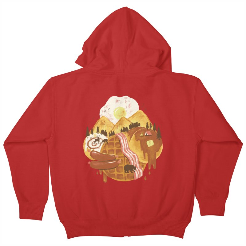 Breakfastscape Kids Zip-Up Hoody by CPdesign's Artist Shop