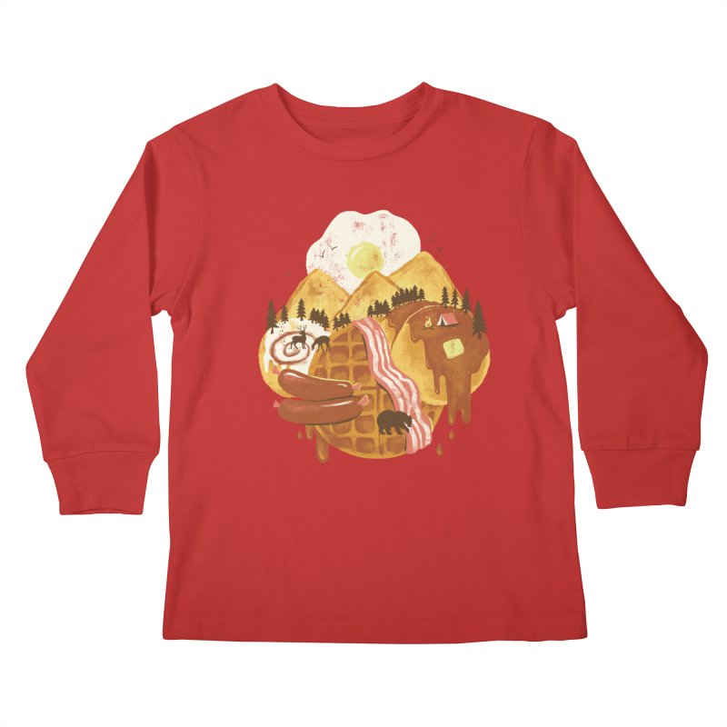 Breakfastscape Kids Longsleeve T-Shirt by CPdesign's Artist Shop
