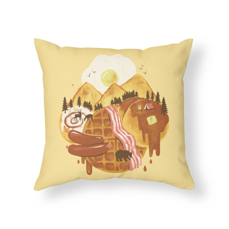 Breakfastscape Home Throw Pillow by CPdesign's Artist Shop