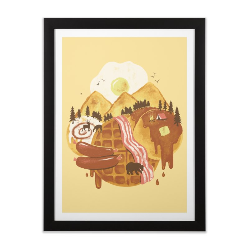 Breakfastscape Home Framed Fine Art Print by CPdesign's Artist Shop
