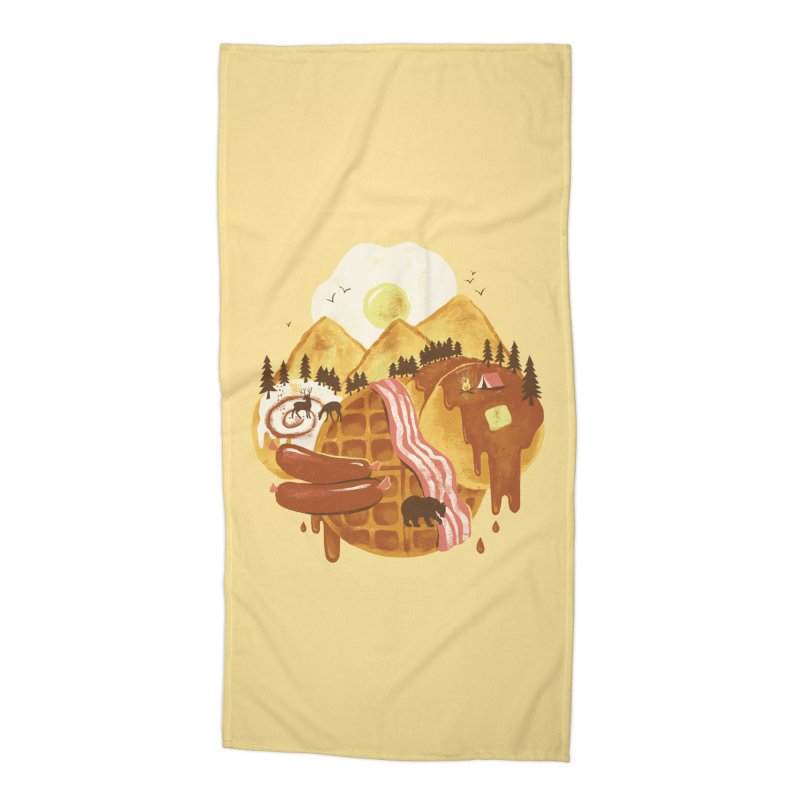 Breakfastscape Accessories Beach Towel by CPdesign's Artist Shop