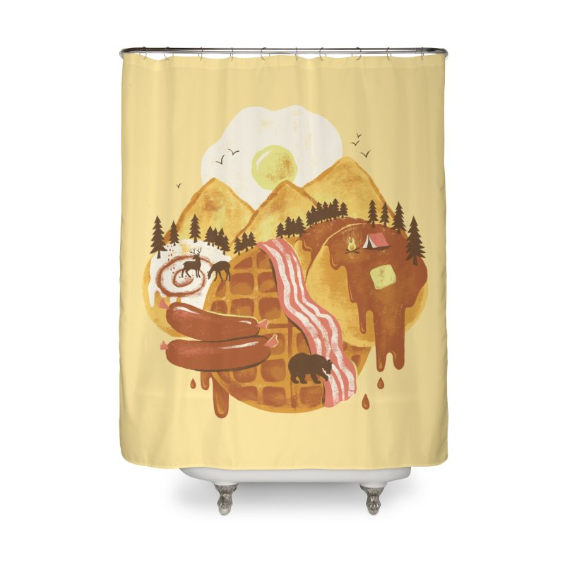 Breakfastscape Home Shower Curtain by CPdesign's Artist Shop