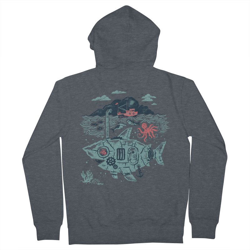 Crabby's Revenge Men's French Terry Zip-Up Hoody by CPdesign's Artist Shop