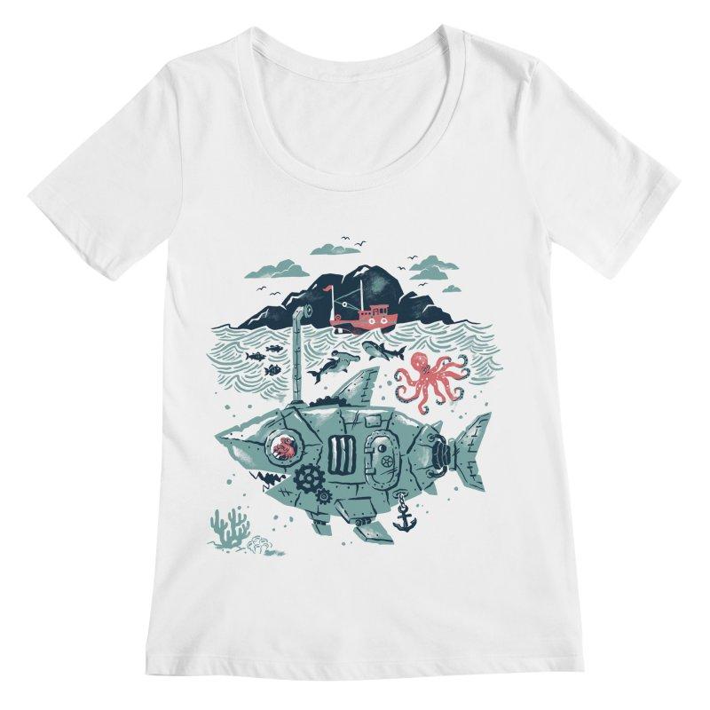 Crabby's Revenge Women's Regular Scoop Neck by CPdesign's Artist Shop