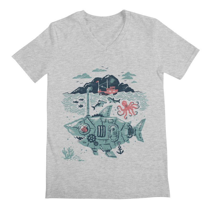 Crabby's Revenge Men's V-Neck by CPdesign's Artist Shop